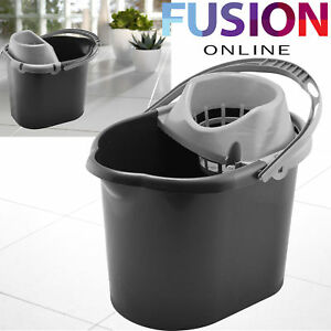 LARGE-PLASTIC-MOP-BUCKET-WITH-WRINGER-CLEANING-BUCKET-BASKET-DRY-FLOOR-13LTR