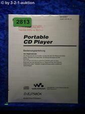 Sony Bedienungsanleitung D EJ758CK CD Player (#2813)