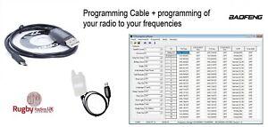 UK STOCK-BF-T1 Programming Cable /& programmation de votre radio T1