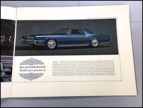 Eldorado Fleetwood Coupe deVille Brougham 1967 Cadillac Sales Brochure Catalog