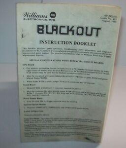 Blackout-Pinball-Machine-Mini-Handbook-Williams-Original-1980-Game-Booklet