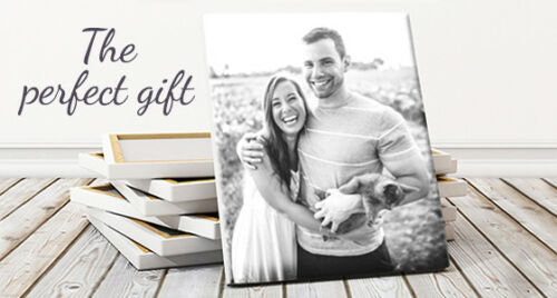 100 DESIGNS /& GIFTS MANY SIZES SQUARE PHOTO COLLAGE CANVAS PERSONALISED GIFT