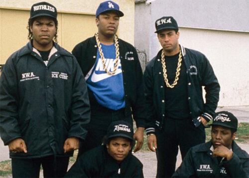 """Hip Hop 14K plaqué or large 20 mm 30/"""" pouces NWA RUN DMC Corde Chaîne Collier"""