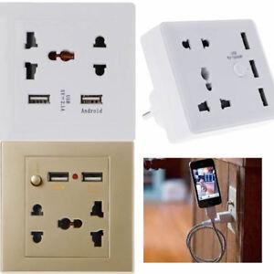 Universal-Home-Smart-2-3-USB-Ports-EU-Plug-LED-Wall-Socket-Panel-Travel-Adapter