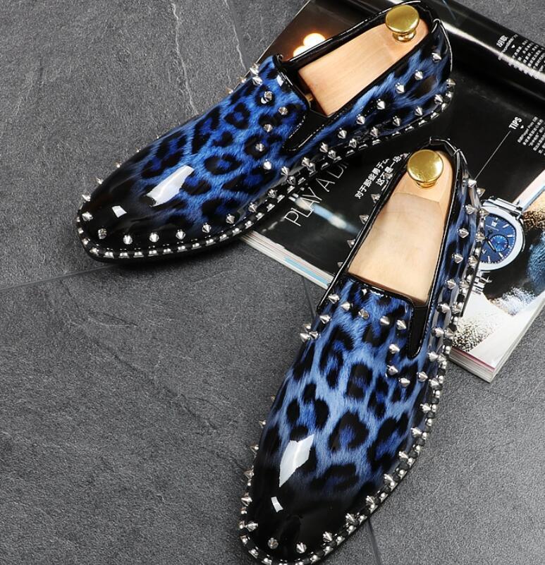 Scarpe casual da uomo 2018 uomos Fashion England Low Heels Loafers Flats Shoes Oxfords Casual Rivet