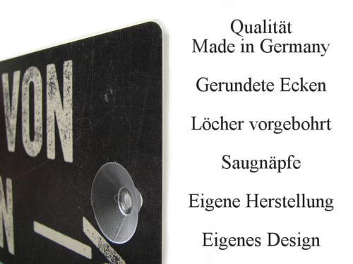 Kunststoffschild mit Saugnapf SECURITY Hinweisschild Sicherheitsdienst Vintage