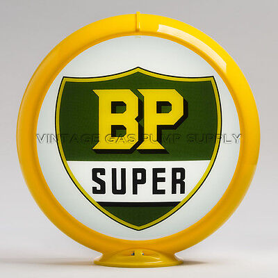 "G500 BP Super 13.5/"" Gas Pump Globe w// Yellow Plastic Body"