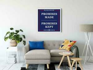 Promises-Made-Kept-Poster-Gloss-Rally-For-Home-Decor-deco-Wall-Art-Print-canvas