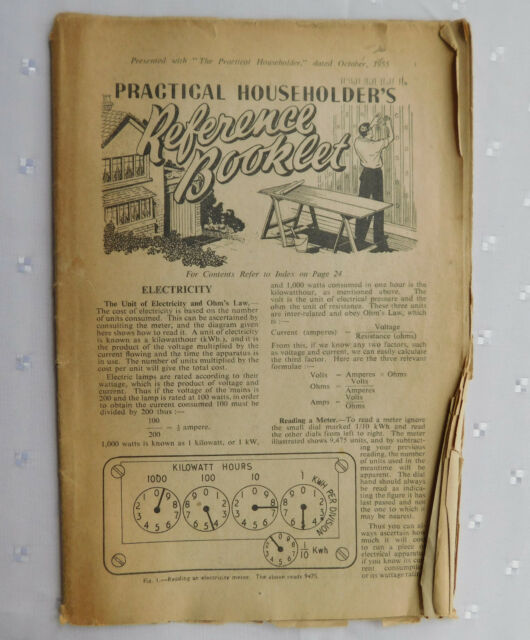 Practical Householder's Reference Booklet 1955 vintage 1950s DIY magazine book