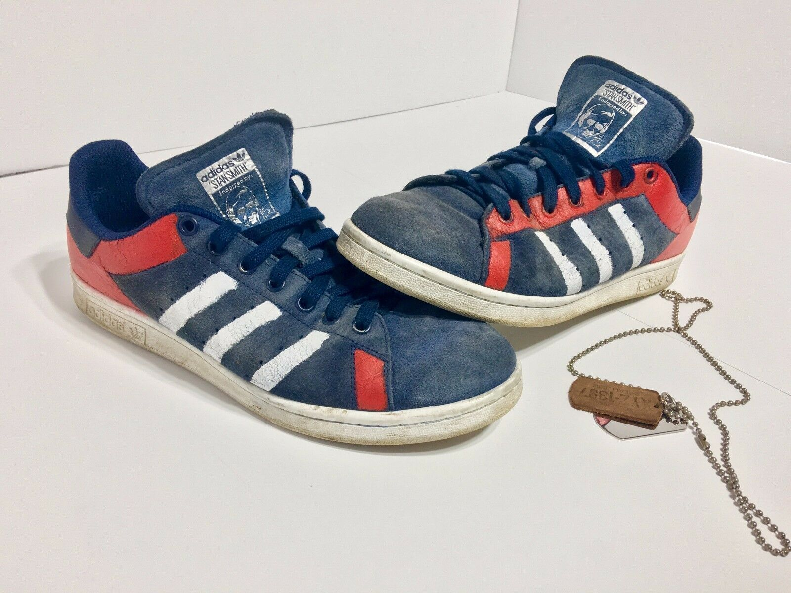 Adidas StanSmith Suede Blue Custom Red&White Exclusive Collective item Sneaker