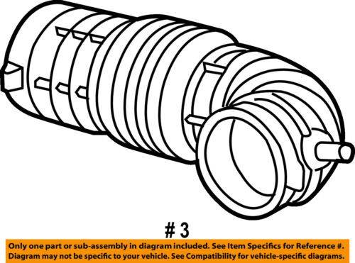 CHRYSLER OEM Air Cleaner Intake-Air Duct Tube Hose 4591869AB