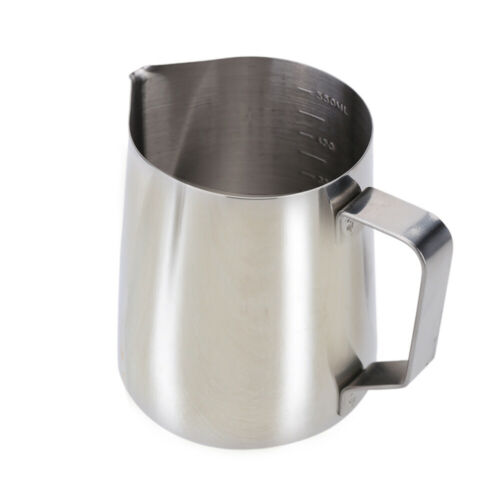 Details about  /2 Sizes Stainless Steel Milk Frother Pitcher Milk Foam Measuring Cups Coffe G1B2