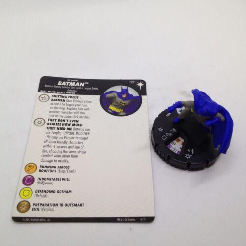 Heroclix DC Elseworlds set Batman #001 Common figure w//card!