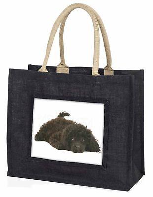 Miniatur Pudel Hund große schwarze Einkaufstasche Weihnachten
