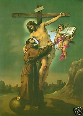 Catholic Print Picture VISION of ST. FRANCIS of ASSISI - ready to frame