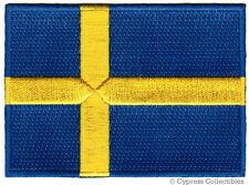 SWEDEN FLAG embroidered iron-on PATCH SWEDISH EMBLEM Konungariket Sverige NEW