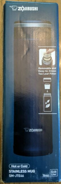 Zojirushi SMJTE46AD Stainless 16 ounce Mug Tea Leaf Filter Double Wall Insulated