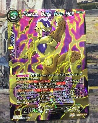 Frieza Dragonball Super Back from Hell BT5-091 SR Super Rare