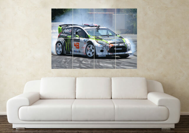 HOONIGAN POSTER Ken Block GIANT Wall Art POSTER PRINT ART in ONE PIECE FORD V8