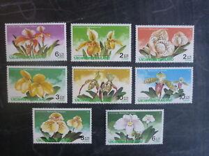1992-THAILAND-APOC-ORCHIDS-SET-8-MINT-STAMPS-MNH