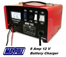 Maypole Heavy Duty in acciaio 8a 8 Amp 12v Auto Furgone Trattore Caricabatteria #mp713