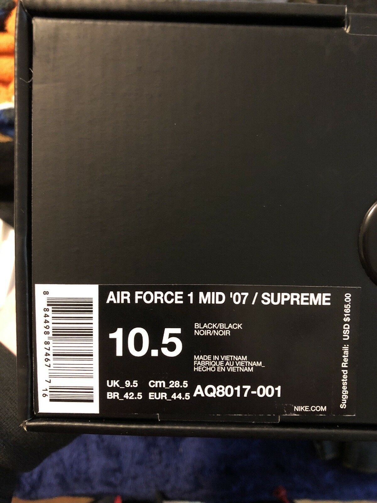 Supreme Nike AF1 Mid Black NBA Comfortable Comfortable and good-looking