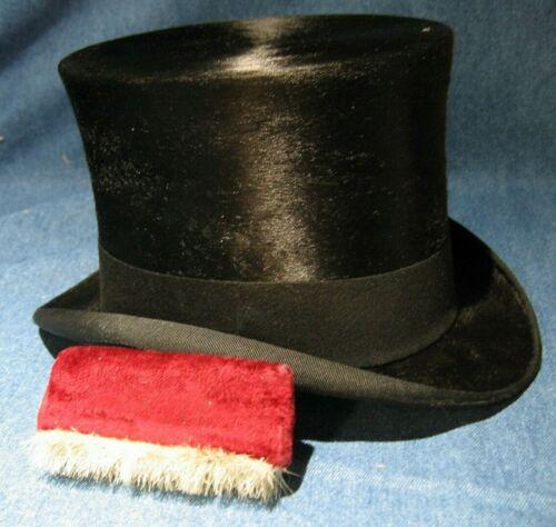 19th C Antique Silk Top Hat Satchell London RARE H