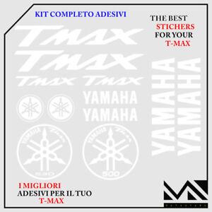 Adesivo compatibile con TMAX 500 Stickers 3D codino TMAX 2001-07 Nero Bianco