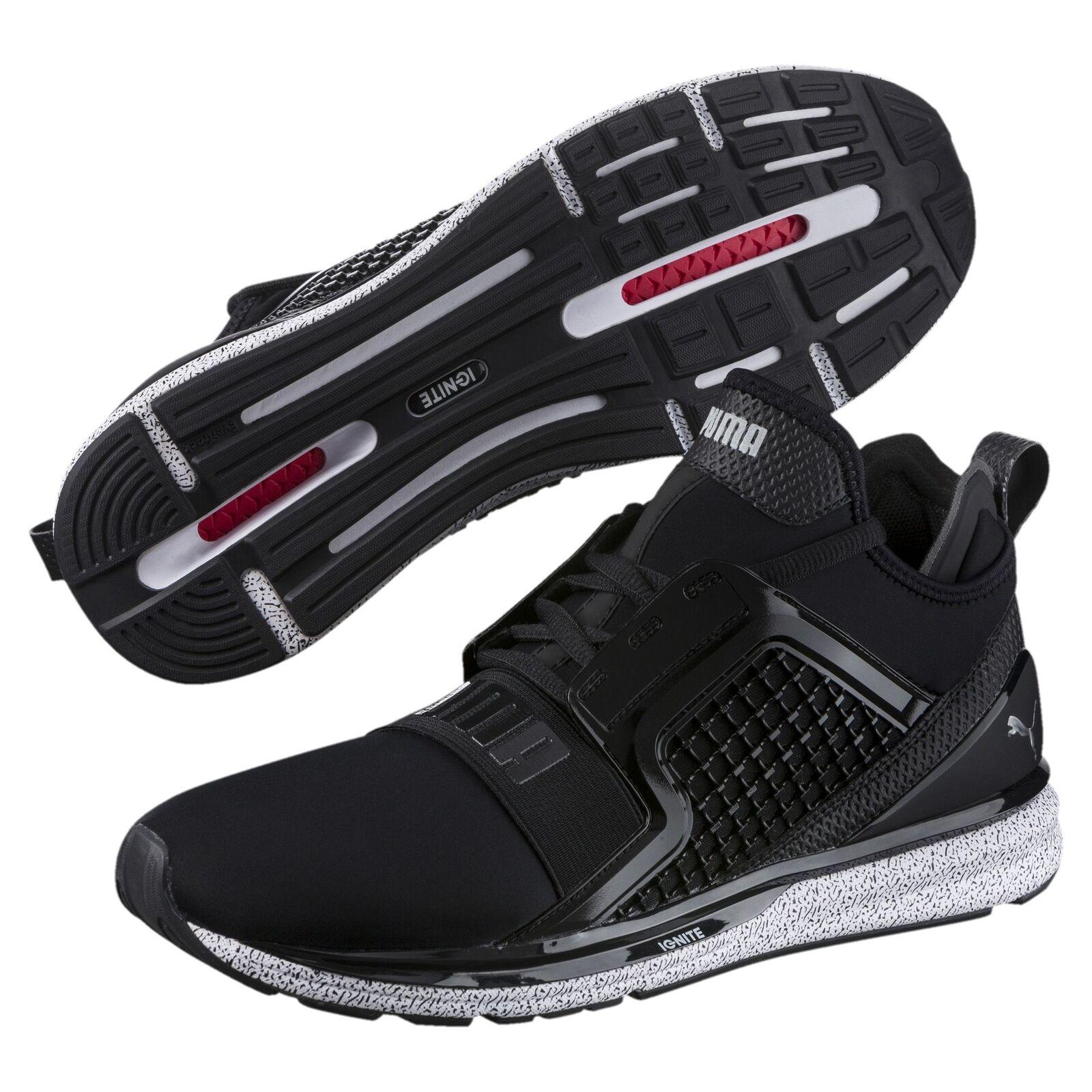 PUMA IGNITE Limitless Snow Splatter Herren Sneaker Männer Schuhe Laufen Neu