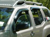 Tape-on Vent Visors 4 Piece For A Toyota Pickup, Tacoma Extended Cab 1995 - 2004