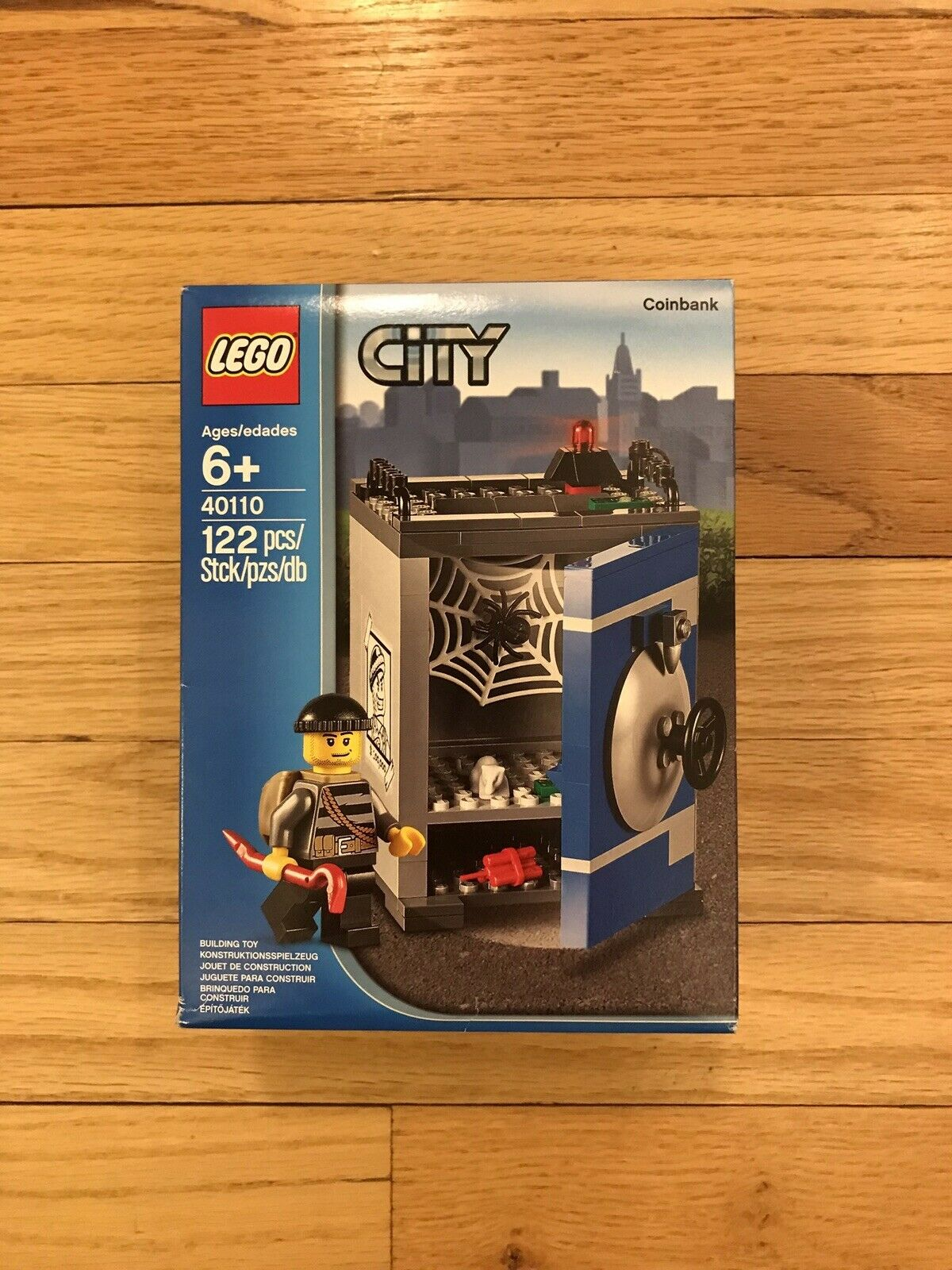 New Factory Sealed Sealed Sealed LEGO City 40110 - City Coin Bank 122 Pcs Piggy bank Safe aa4bb2