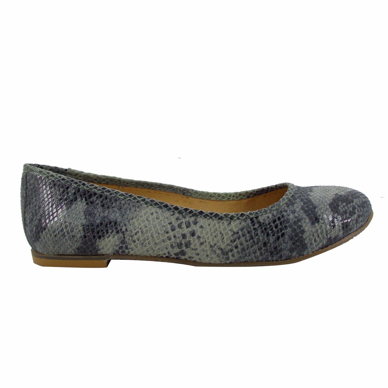 Größe 10 41) (UK 8 / EU 41) 10 Mint Snake Print Leder Round Ballet Flats MADE IN SPAIN 50f3db