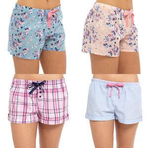 Womens Ladies Pyjama Shorts Lounge Pants PJ Bottom Nightwear ...