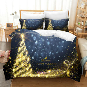 Christmas-Trees-Single-Double-Queen-King-Bed-Doona-Duvet-Quilt-Cover-Set-Linen