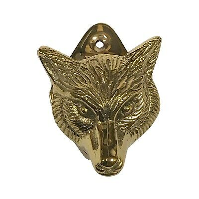 SOLID BRASS FOX HEAD  DOOR KNOCKER VINTAGE RETRO STYLE COUNTRY COTTAGE
