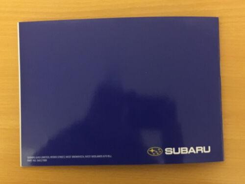 SUBARU SERVICE HISTORY BOOK SUBARU !! IMPREZA TURBO WRX SUBARU !!