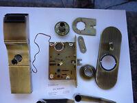 Used Tesa Onity Hotel Lock HT24i Gen 1 Antquie Brass Color Vingcard Ilco Kaba