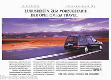 Opel Omega Caravan Travel Prospekt DINA3 brochure Auto PKWs Deutschland Verkehr