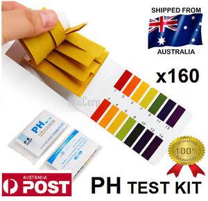 PH Litmus Test kit Paper Urine Saliva Acid Alkaline x 160 Strips - Aquarium Tank