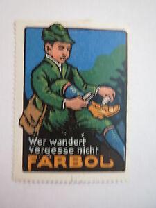 Faerbol-Schuhcreme-Wanderer-Reklamemarke