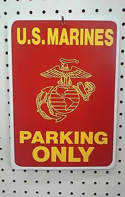 """NAVY Parking Only styrène Plastique Signe 8.5/"""" X 12/"""" U.S"""