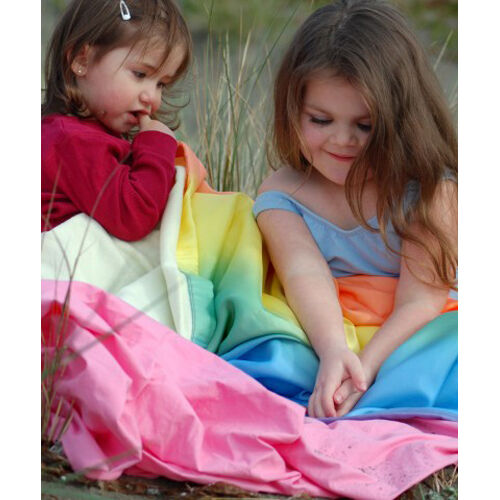 567500 Sarah/'s Silks Rainbow Silk /& Flannel Baby Blanket Gets Softer Over Time