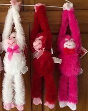 "20"" Plush Hanging Monkeys STUFFED ANIMAL soft HANDS monkey VALENTINES DAY new"