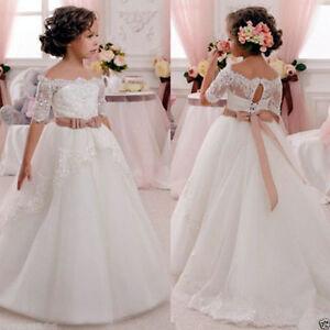 Madchen Blumenmadchen Kleid Kinder Hochzeit Brautjungfer Party