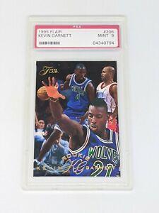 1995 Flair #206 Kevin Garnett Rookie Card PSA MINT 9 Timberwolves HOF