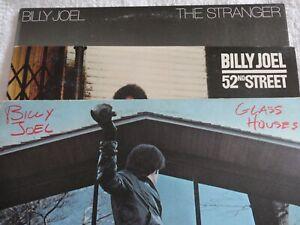 BILLY JOEL 3 LP Lot ~ The Stranger ~ 52nd Street & Glass Houses