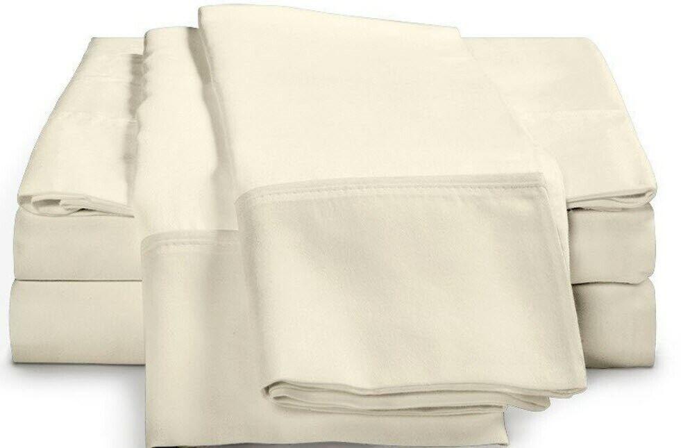 4 Pc Luxor Style Ultra Soft Bamboo Sheet Set 300 TC  Ivory  King NEW