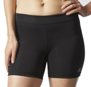 2XU Mid-Rise Womens Black Compression Running Gym Short Tights Bottoms
