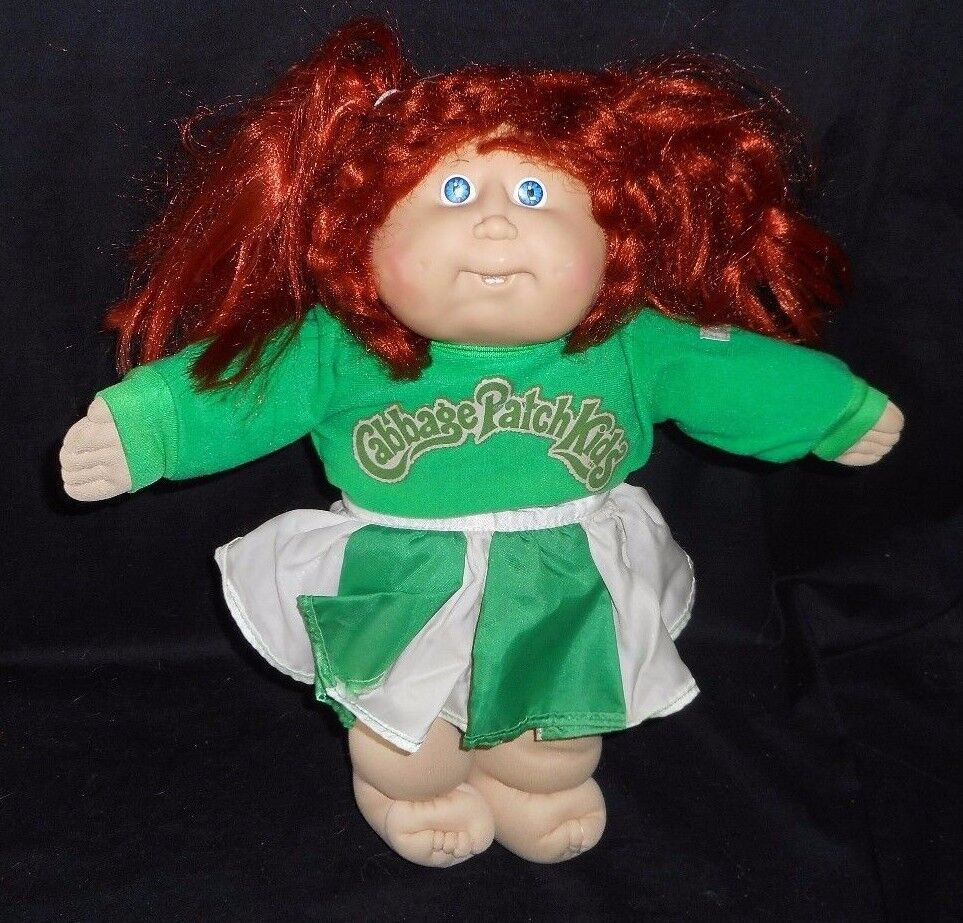 VINTAGE 1982 CABBAGE PATCH KIDS LONG ROT CHEERLEADER STUFFED ANIMAL PLUSH TOY