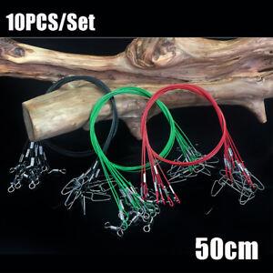 con-cable-giratorio-Cuerda-de-alambre-Linea-de-plomo-de-pesca-Seguridad-Snap